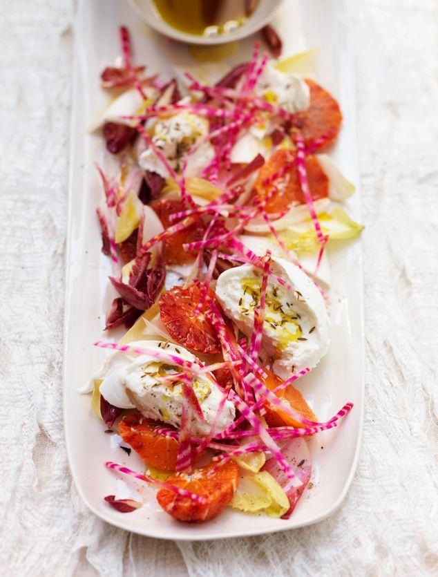 wit- en roodlof salade met bloedsinaasappel | ZTRDG magazine