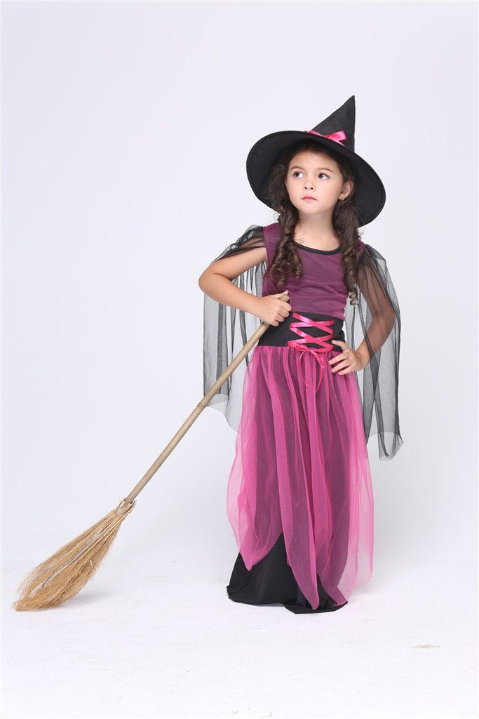 Halloween Witch Girls Long Dress