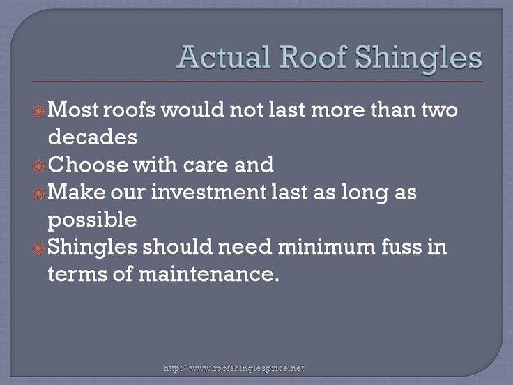 This is a presentation of roof shingles price.net. Please check the site out at http://www.roofshinglesprice.net