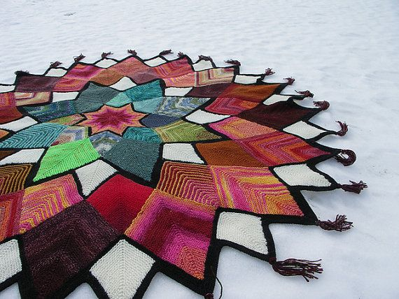 Domino Star Stashbuster Afghan pattern by Anita Grahn by AnitaYarn - try this in neutral colors
