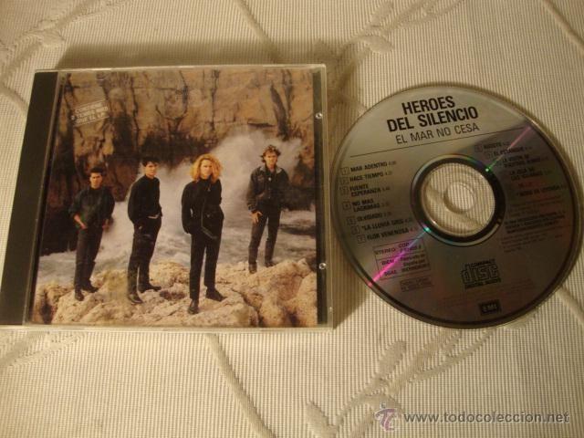 DISCO CD ORIGINAL HEROES DEL SILENCIO EL MAR NO CESA 2 TEMAS EXTRA EMI ODEON 1989.