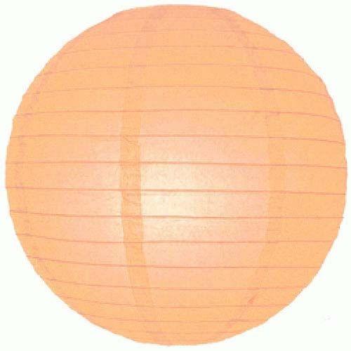 rijstpapier bollamp Perzik