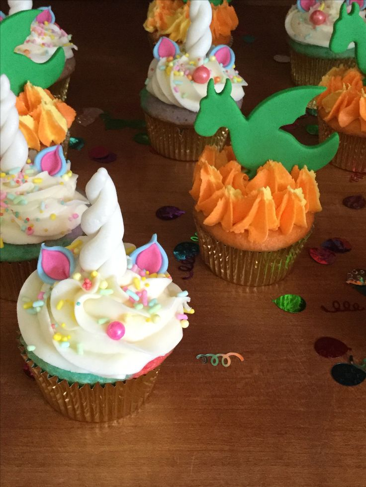 Unicorns & Dragons Cupcakes