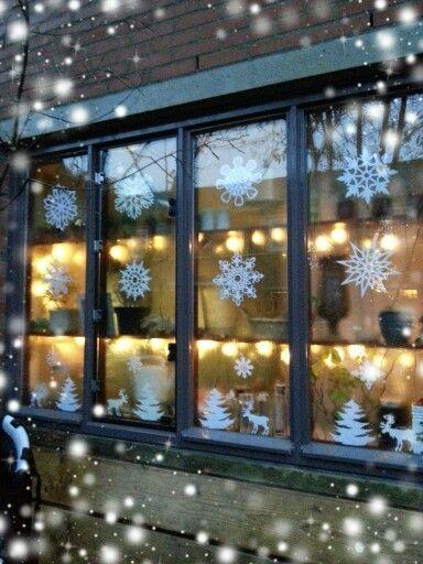 Kerst raam decoratie...