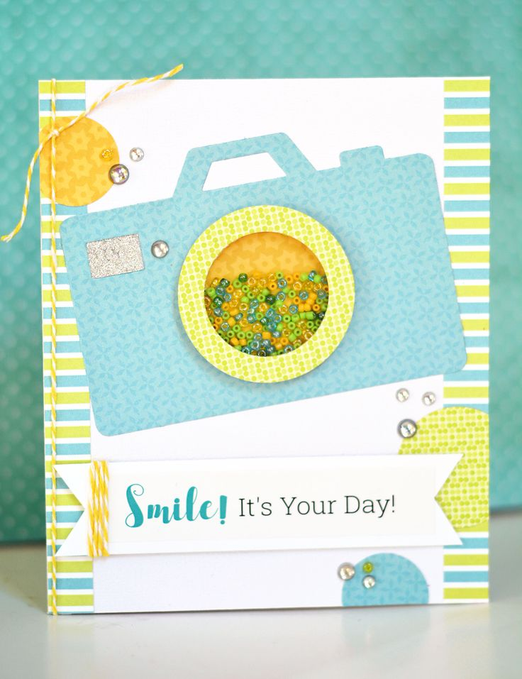 Easy, fast, and cute camera shaker card made in minutes with our new Picture Perfect kit!