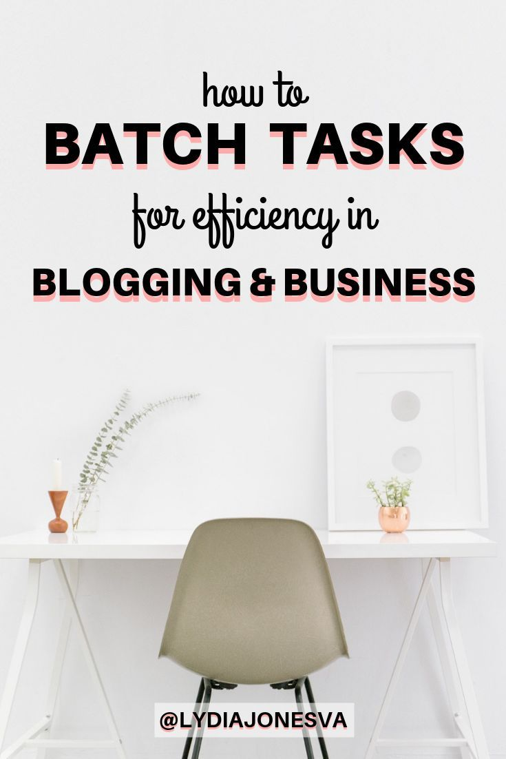 How To BATCH TASKS For Efficiency In Blogging And Business