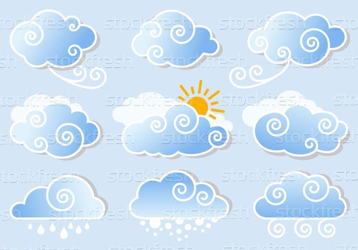 藍色 · 天空 · 雲 · 向量 · 可愛 · - 插圖 © beaubelle (#1626265) | Stockfresh