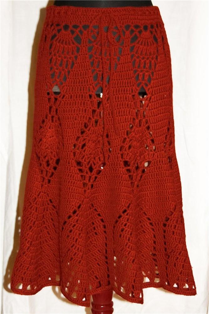Crochet skirt.Schema.