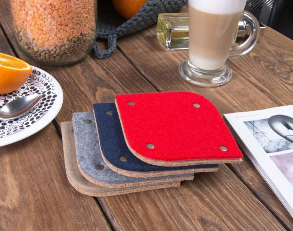 Felt coasters Wine coasters Kitchen table decor Drinkware by POPEQ
