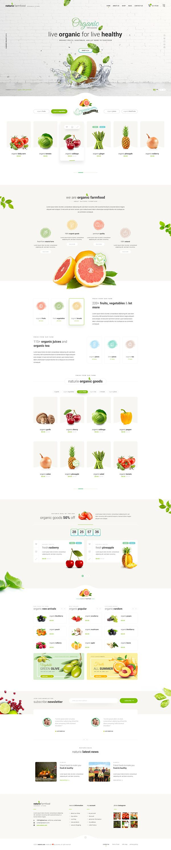 Naturix - Organic Store PSD TemplateDownload Here : https://themeforest.net/item/naturix-organic-store-psd-template/19184061