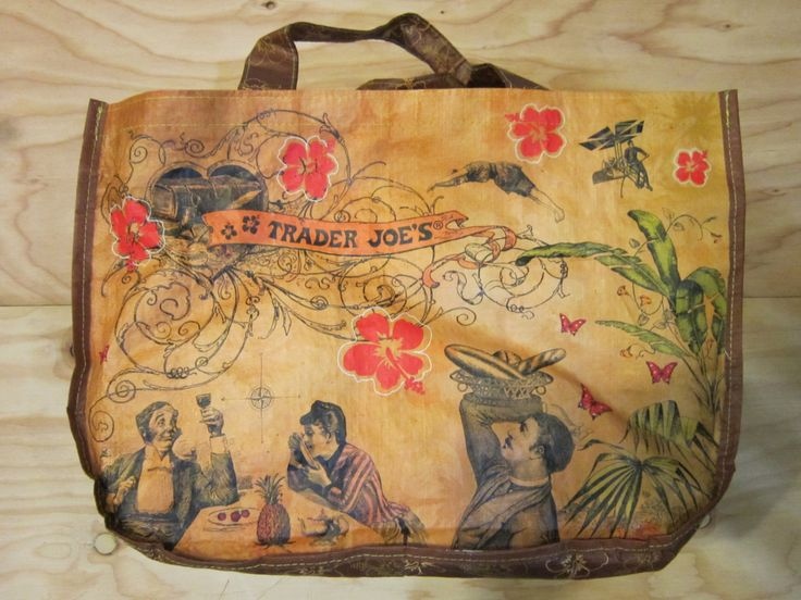 """Vintage Trader Joe's Reusable Tote Shopping Bag """"Sailing the Culinary Seas"""" by RainbowConnection15 on Etsy"""
