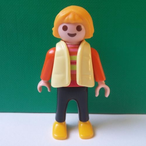 playmobil personnage enfant fille veste jaune vente ebay. Black Bedroom Furniture Sets. Home Design Ideas
