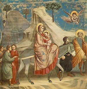 La Huida a Egipto es una escena obra del pintor italiano Giotto. Está realizado al fresco, y fue pintado entre 1305 y 1306 (otras fuentes dan las fechas de 1303 y 1305). Se encuentra en la Capilla de los Scrovegni de Padua. José Armando Flores Vázquez