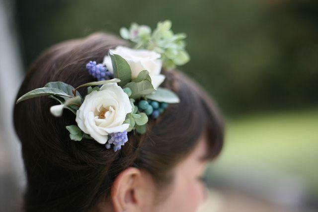Roses, Grape Hyacinth, Hydrangea Florets