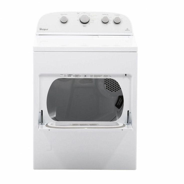 Whirlpool 7.0 cu. ft. High-Efficiency Gas Dryer in White