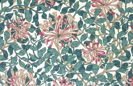 wallpaper designed by May Morris, 1883