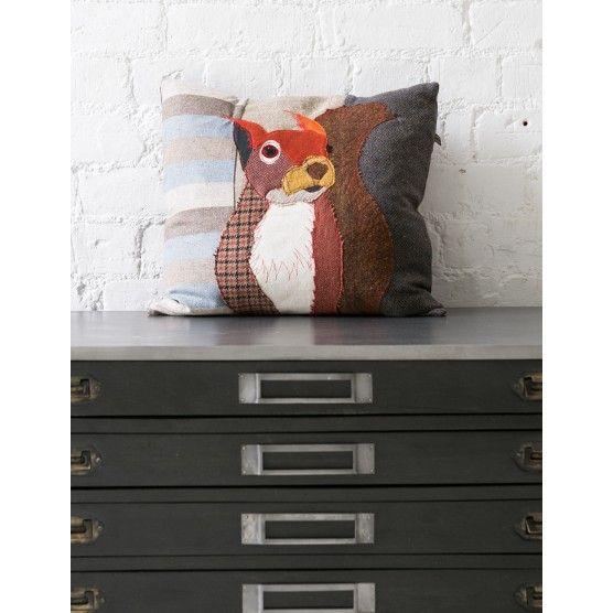 Squirrel Applique Cushion