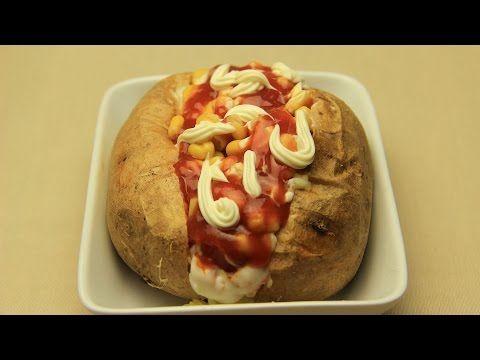 Ev Yapımı Patates Kumpir Tarifi - Fırında Malzemeli Kumpir - YouTube