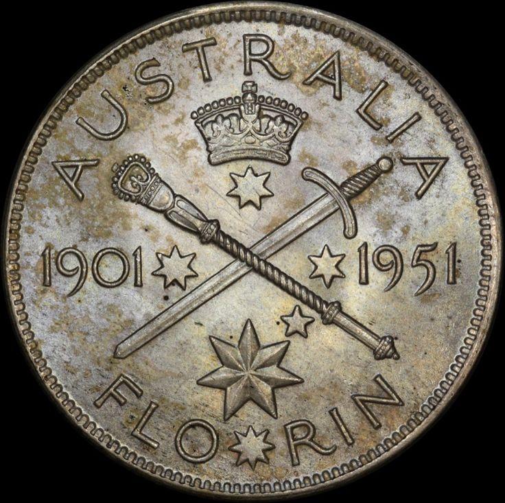Australia's 1951 Federation Jubilee Florin