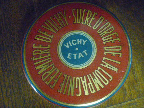 VICHY ETAT Tin  Paris and Vichy Allier France by TinTack on Etsy, €14.00
