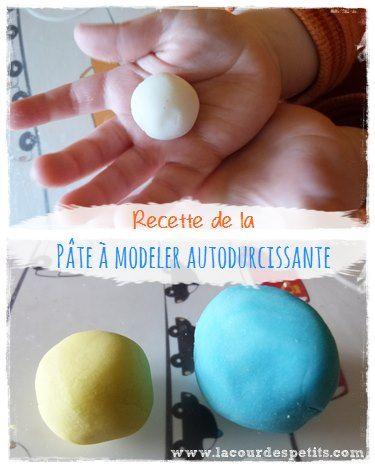 Recette de la pâte autodurcissante faite maison : pour fabriquer des petits objets déco avec un aspect céramique, dès le plus jeune âge. A colorer ou à peindre après séchage, pas de cuisson nécessaire. http://www.lacourdespetits.com/recette-de-la-pate-autodurcissante/ #clay #patedurcissante #DIY