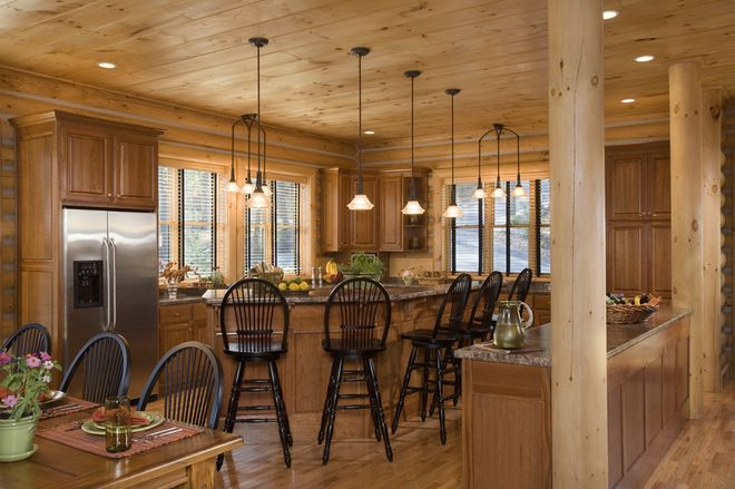 Barndominium interior pictures traditional kitchen by for Kitchen ideas for log homes