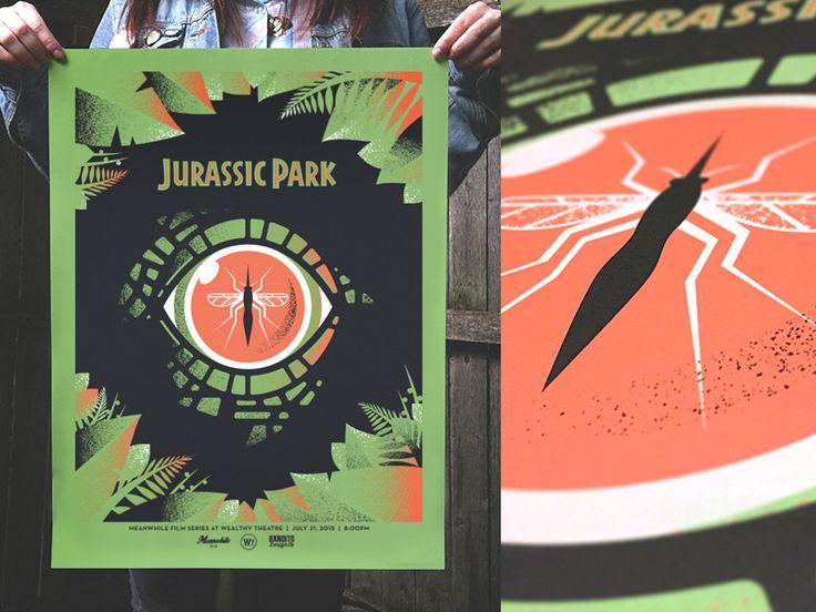 Dribbble - jurassic park poster - via #designhunt