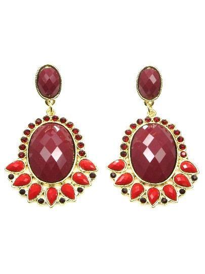 #Valentijn cadeautjes deze oorbellen voor maar €6,95 per paar Rode oorbellen met facet acrylaat kralen (steker).