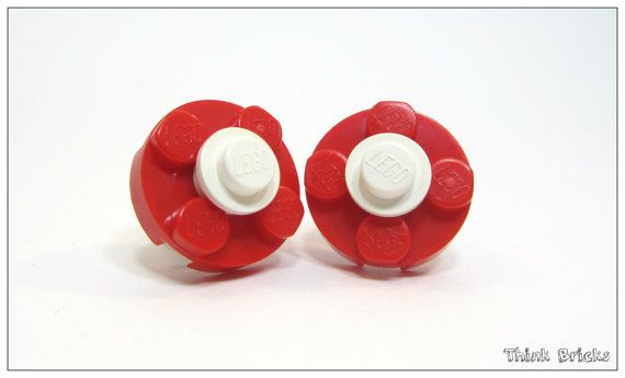 Stud Earrings, Spring Earrings, Earrings From LEGO® Bricks, LEGO® jewelry, Flo...
