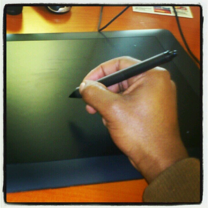 My weapon of choice; the Wacom Intuos tablet