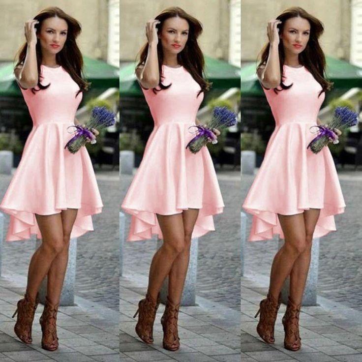 Pure Candy Color Irregular High Waist Short Dress - Meet Yours Fashion - 3
