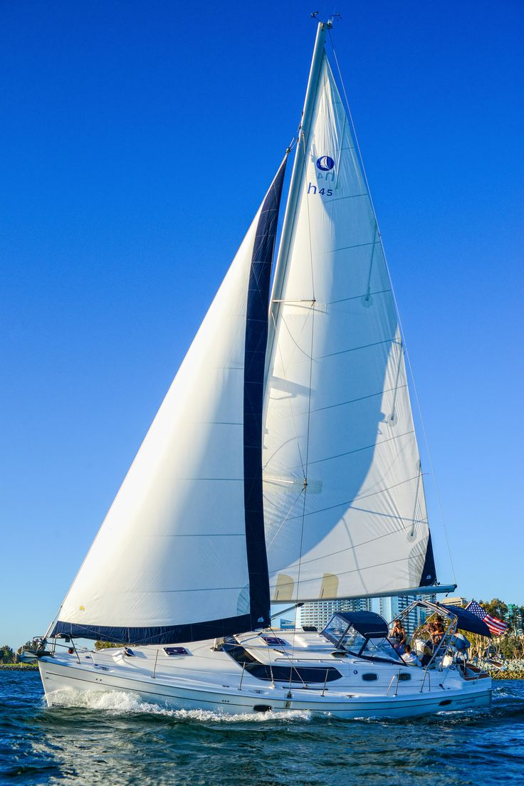 San Diego, California. Going out on a whale watching tour cruising on a luxury sailboat.