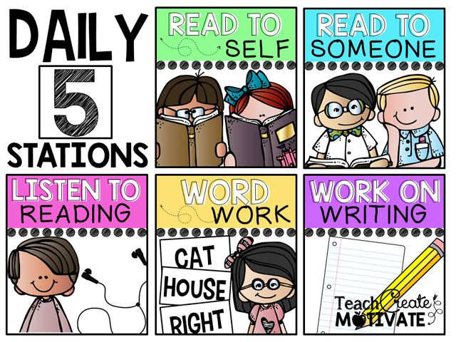 Do you use Daily 5? Grab these posters and management slide for free!