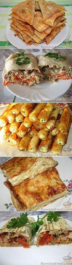 133 рецепта блюд из  лаваша::