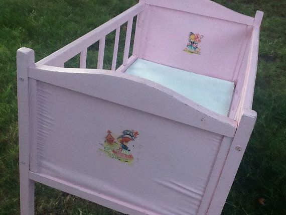 Vintage Pink Wooden Baby Doll Crib Vintage Pink And Babies