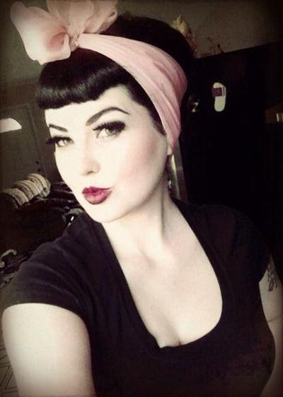 Rockabilly hair and makeup