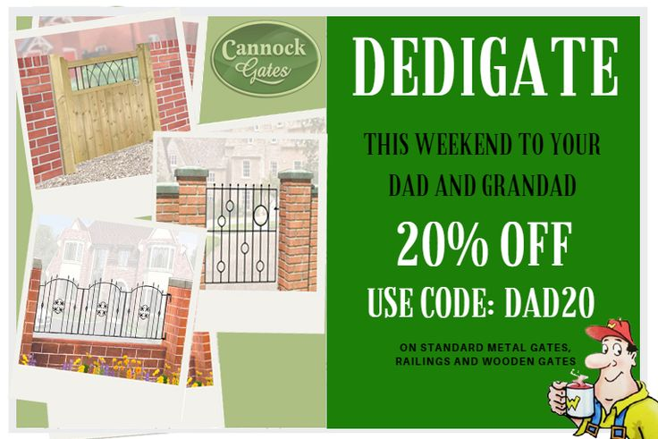 Everyone deserves to be spoilt sometimes, enjoy 20% off on our standard gates and railings.  This week only!!   #cannockgates #fathersday #gates #railings #woodengates #metalgates #metalrailings #wroughtironstyle #wroughtiron  #cannock #sale #discount #thisweekonly