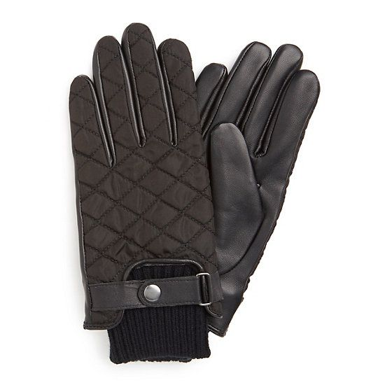 Quilted Driving Glove,True Black