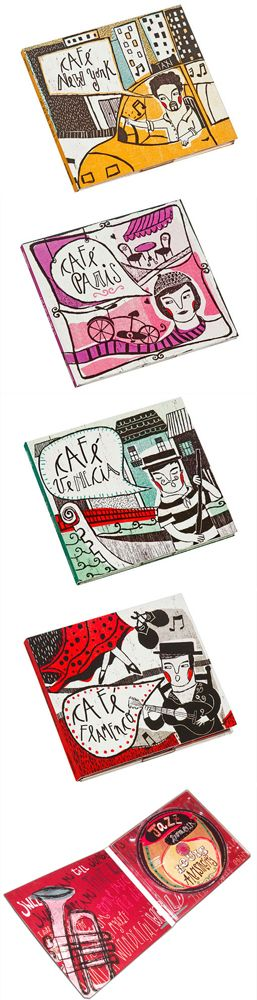 Macarena López: cute illustrated CD #packaging PD
