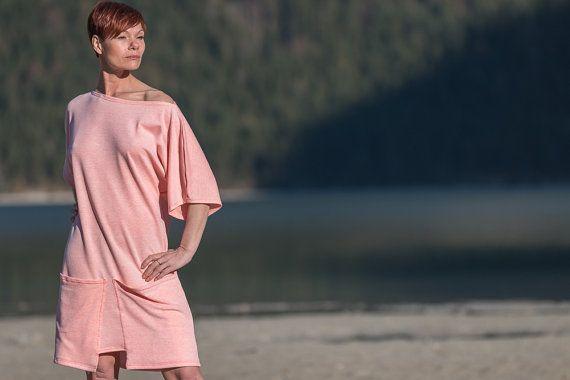 Sommerkleid mit große Taschen Oversize Kleid knielang von ROTETULPE