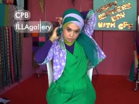 Tutorial Hijab Segi Empat Asimetris - YouTube
