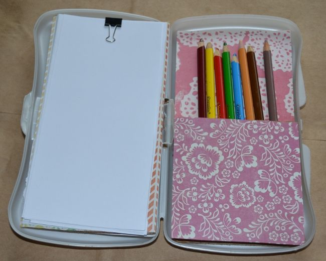 Make Your Kids' Craft Supplies More Portable: Baby Wipe Box