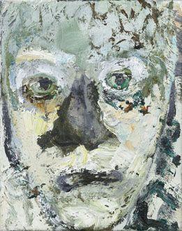 Marlene Dumas Geelschorskop 1993 olieverf op doek 25 x 20 cm