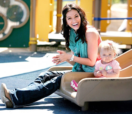Melissa Rycroft Strickland and daughter Ava!
