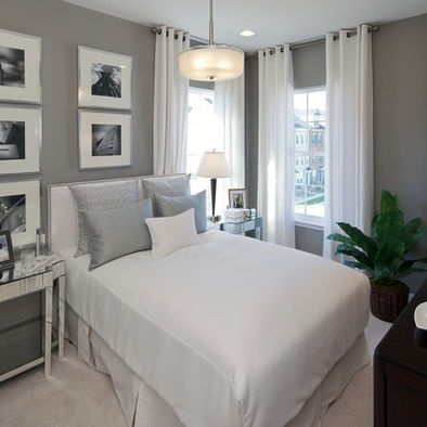 Contemporary Bedroom Grey, Dark Brown, Black And Pops Of Color Design, Pictures, Remodel, Decor and Ideas - page 7