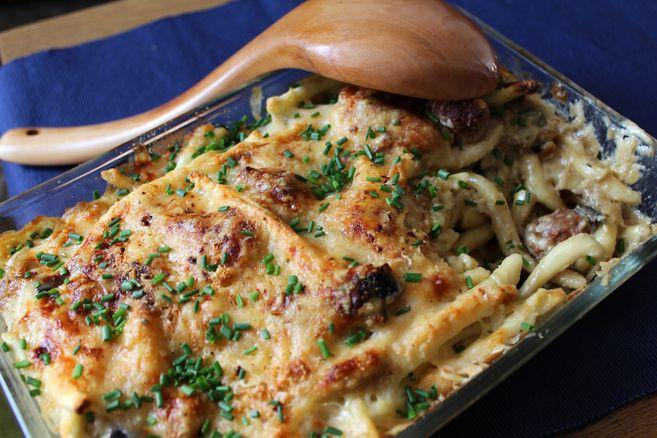 pasta-gratinada-con-butifarra-y-berenjena