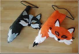 Resultado de imagen para mascaras de animales de fieltro