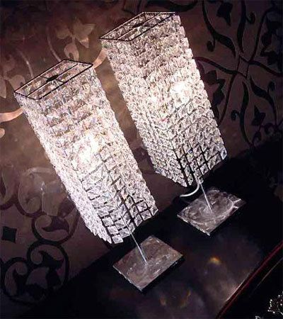 Swarovski lamps can be used in the dining room, bedroom or bathroom for high impact.