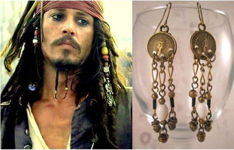 Pirates Of The Caribbean Jack Sparrow Earrings Jewelry