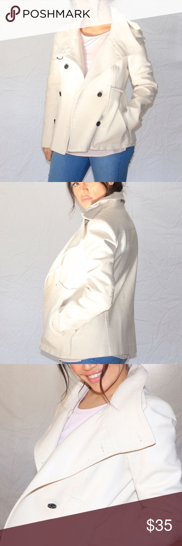 MNG by Mango Off White Coat Perfect condition recently dry-cleaned off white coat Mango Jackets & Coats Trench Coats